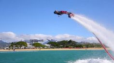 FlyBoard is Flying Watersports which Uses hydro flying devices, an amazing PWC attachment that turns water into flight.
