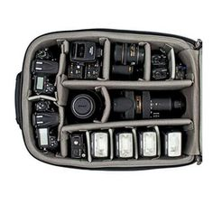 Must Have Wedding Photography Gear - Image of the inside of the Think Tank Airport Security Bag