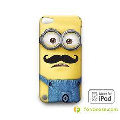 MINION MOUSTACHE Despicable Me iPod Touch 4, 5 Case Cover
