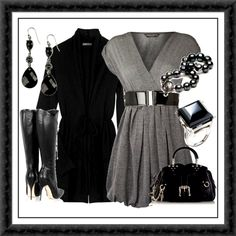 Black and gray.....what other colors do ya need?