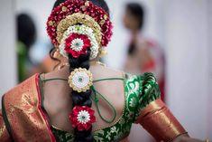 Traditional and Eye-Catching Poojadai for Kanjeevaram Sarees – Vaagai #Ezwed #BridePoojadai #Poojadai
