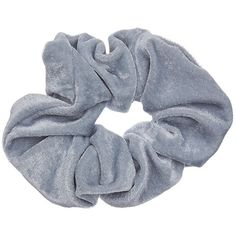 LIGHT BLUE SCRUNCHIE ($5.91) ❤ liked on Polyvore featuring accessories, hair accessories and scrunchie hair accessories