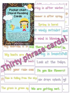 Classroom Freebies Too: April Fluency Phrases Cards!