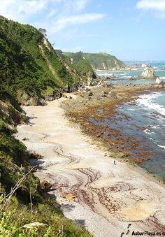 Western side of Del Silencio beach in Cudillero, Asturias, Spain