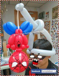 Spiderman hanging around