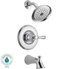 Delta Silverton 1-Handle Tub and Shower Faucet in Chrome-144713 at The Home Depot, I like this better and it's Delta.