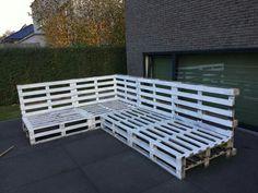 DIY Lounge van paletten