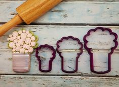 Arty McGoo's Can Bouquet Cookie Cutter and by BobbisCookiesCutters