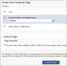 How to Create Facebook Page For Your Blog
