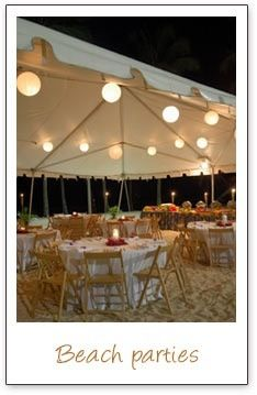 Beach wedding Reception :)