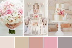 Glam Wedding Inspiration combining feminine pinks and dove grey paired with luxe metallics such as shimmery silver and lustrous gold...