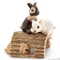 Schleich Baby rabbits, playing