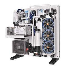 White thermaltake core p5 anyone? #pc #pcsetup #pcgaming #pcmasterrace…