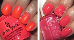 China Glaze Pool Party, Essie Movers & Shakers