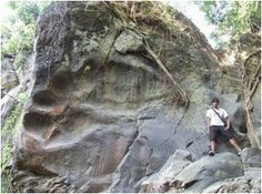 """Another massive """"footprint"""" embedded into solid rock can be found at Bheemana Hejje near Bangalore. It is referred to as the Giant Footprint of Bheema. In fact, it's a naturally formed rock that looks similare to a footprint. Ancient Aliens, Ancient History, Giant Skeleton, Human Skeleton, Nephilim Giants, Giant People, Creepy, Arte Tribal, Ancient Artifacts"""