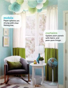 #DIY #curtains for a tween Girl's room