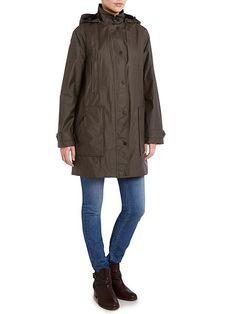 Funnel Neck Single Breasted Jacket waterproof