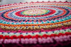 PDF CROCHET PATTERN  Colorful Rug  Permission by oneandtwocompany, $3.99