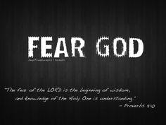 fear God in return gain wisdom