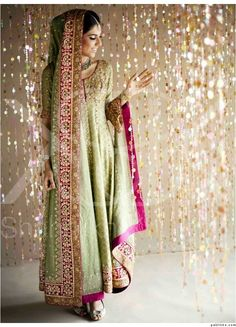 apple green pakistani valima outfit