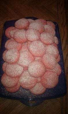 Pink sugar cookies for Breast Cancer Awareness Month
