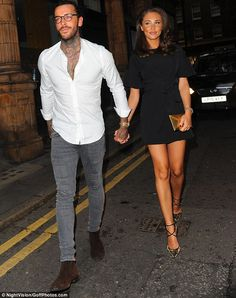 All loved-up: Despite the rumours and gossip, Megan McKenna and Pete Wicks looked more in love than ever as they attended Mark Hill's pop-up event in London, on Wednesday night