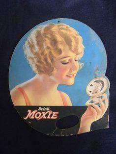 Moxie Soda Advertising Fan from the 1920s