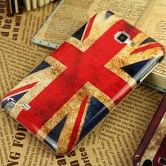 Retro Style UK flag case for Samsung Galaxy Note