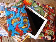 Pochettes d'ordinateurs et de tablettes (Ipads et Ipadsmini) doublées de simili cuir Collections Mexicana et Americana