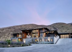Wow! Sectional full vision doors everywhere!  Badger Mountain House by First Lamp Architecture
