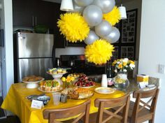 Yellow baby shower!