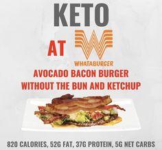 Keto at Whataburger. Keto tips and tricks. - Keto at Whataburger. Keto tips and tricks. Eating Out Low Carb, Low Carb Diet, Keto Diet Guide, Keto Diet Plan, Ketogenic Diet, Atkins Diet, Keto Meal, Keto Restaurant, Restaurant Guide