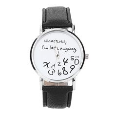 2017 New Design Hot Women Leather Watch Whatever I am Late Anyway Letter Watches Ladies Girl Dress  Wrist Bracelet Watch