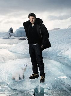 Here's Leonardo. With Baby Knut the Polar Bear. by Annie Leibovitz. You're welcome!