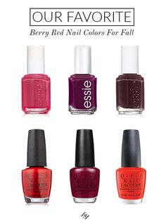 Our Favorite Berry Red Nail Colors For Fall | Glitter Guide