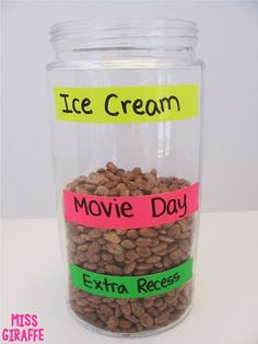 Class reward jar that has different levels so kids stay motivated to get to the top - lots of fun ideas for behavior management on this post