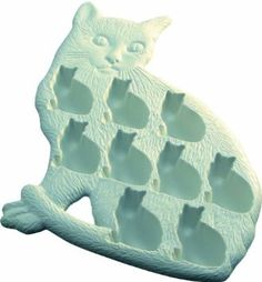 Cat shaped ice cubes - hahaha for the ultimate cat lady