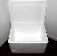 styrofoam shipping containers for packaging items for safe delivery.