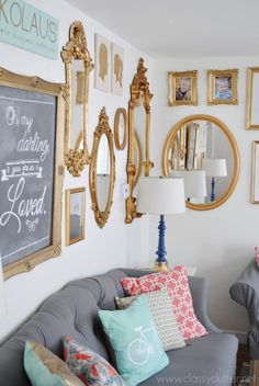 Gold Gallery Wall