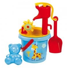 Gowi Toys Austria Water Mill Sand Toy with Pump Bucket And Spade, Sand Toys, Sand Pit, Water Mill, Toddler Furniture, Infancy, Cute Teddy Bears, Toddler Toys, Educational Toys