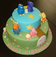 My daughter is in love with this show...may be the theme  Backyardigans birthday cake