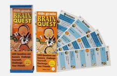 OH MY GOSH. i totally forgot about these. This was my life haha.Brain Quest