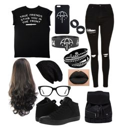 """""""Bring Me The Horizon"""" by meckensylou on Polyvore featuring Topshop, Halogen and Converse"""