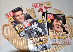 Elvis Presley Commemorative T.V, Guides / Four Covers 1997 Art Deco Vanity, Vintage Closet, Vintage Tablecloths, Vintage Butterfly, Tv Guide, Life Magazine, Elvis Presley, 20 Years, Rockabilly