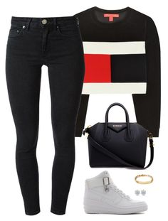 """feed me"" by hosana-317 ❤ liked on Polyvore featuring Tommy Hilfiger, Acne Studios, NIKE, Givenchy, nike and tommy"