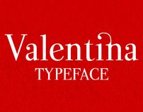 Valentina typeface [free font] - via @designhuntapp