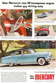 1950s Automobile Advertisement  1954 Mercury  Vintage by Holcroft, $10.00