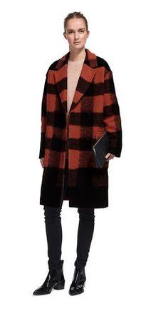 WHISTLES Nico Check Pea Coat