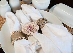 DIY Burlap Flower Napkin Rings Tutorials