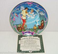 Disney Cinderella Prince Charming Wish Musical Collector Plate Bradford Exchange